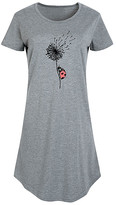 Instant Message Women's Women's Tee Shirt Dresses HEATHER - Heather Gray Ladybug on Dandelion Short-Sleeve Dress - Women & Plus