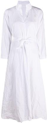 Daniela Gregis Creased Cotton Shirt Dress