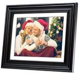 "Polaroid Digital Photo Frame 12"" Premium Wood Frame with Mat"