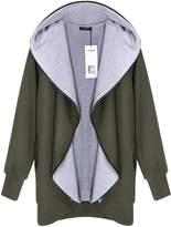 ACEVOG Women's Hooded Zip Outwear Hoodie Jackets Coats Sweatshirt