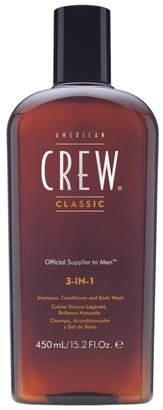 American Crew Classic 3-In-1 Shampoo, Conditioner & Body Wash 450Ml