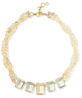 Bounkit Gold-Tone, Bead And Crystal Necklace