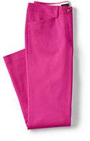 Classic Women's Petite Mid Rise Chino Crop Pants-Vibrant Magenta