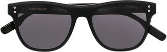 Montblanc Square-Frame Tinted Sunglasses