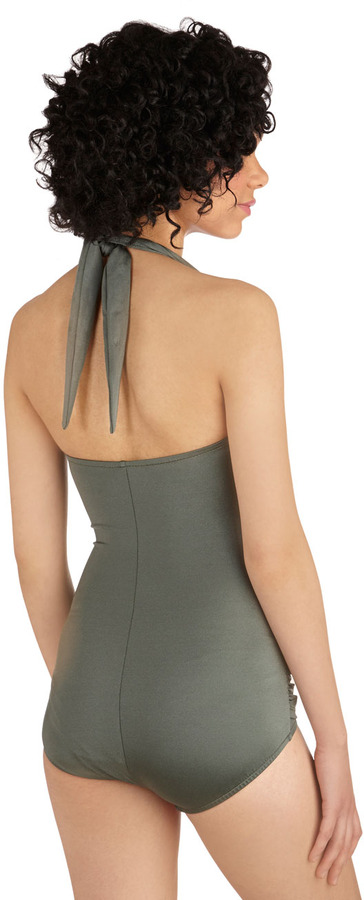 Esther Williams Bathing Beauty One-Piece Swimsuit in Sage