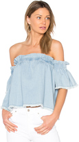 Central Park West Santa Cruz Off Shoulder Top