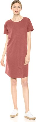 Daily Ritual Lived-in Cotton Roll-sleeve Crewneck T-shirt Dress Casual