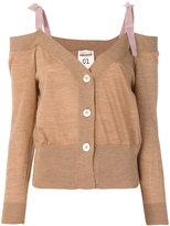 Semi-Couture Semicouture contrast strap cardigan