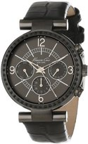 Kenneth Cole New York Women's KC2782 Dress Sport Grey Dial and Case Black Strap Multi-Function Watch