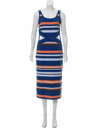 Vivienne Hu Sleeveless Midi Dress Blue