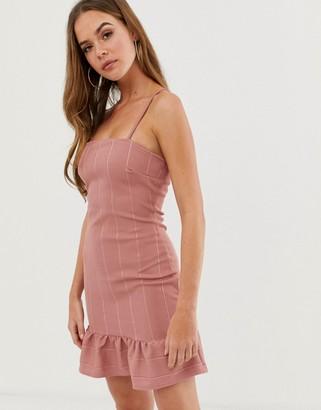In The Style bandage dress with peplum hem