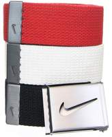 Nike Men's 3-in- One-Size-Fits-Most Belts, Black/White/Red