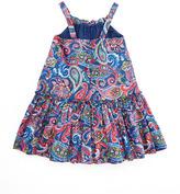 Ralph Lauren Little Paisley Sleeveless Sundress, Royal, 2-3T