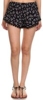 Simplicity Women's Floral Pattern Lace Summer Beach Shorts M