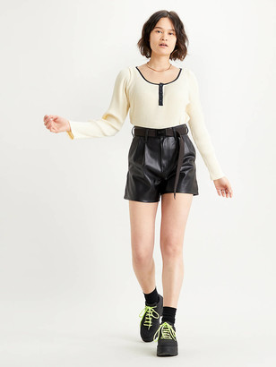 Levi's High Rise Faux Leather Womens Shorts