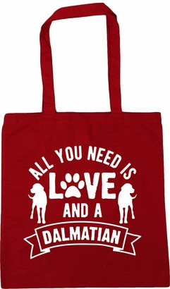 Hippowarehouse All you need is love and a Dalmatian Tote Shopping Gym Beach Bag 42cm x38cm 10 litres