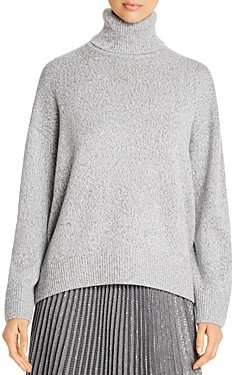 Lafayette 148 New York Cashmere Sequined Turtleneck Sweater