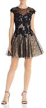 Basix II Sequined Lace Party Dress
