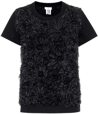 Noir Kei Ninomiya Embroidered cotton top