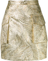 DSQUARED2 textured metallic skirt - women - Silk/Polyamide/Polyester - 36