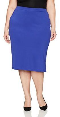 Kasper Women's Plus Size Midi Slim Skirt with Side Slits