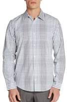 Calvin Klein Regular-Fit Liquid Check Cotton Sportshirt