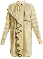 MSGM Striped lace shirt dress