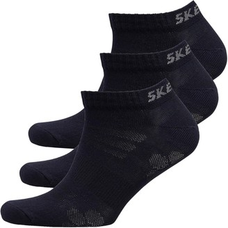 Skechers Three Pack Basic Sneaker Socks Navy