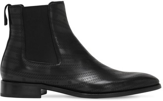 Givenchy 30mm Logo Leather Chelsea Boots
