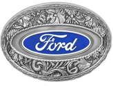 LadyM Buckles Ford Logo Western Style Enamel Pewter Belt Buckle