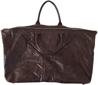 Saint Laurent Easy Brown Leather Travel bags