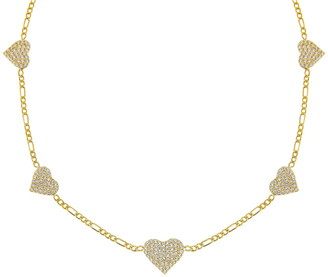 Adina's Jewels Pave Station Figaro Choker Necklace