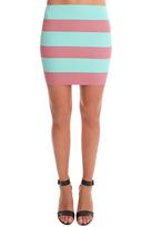Pleasure Doing Business Banded Stripe Mini Skirt