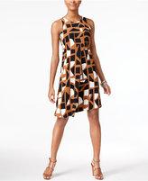 Alfani Printed Asymmetrical-Hem Dress, Created for Macy's