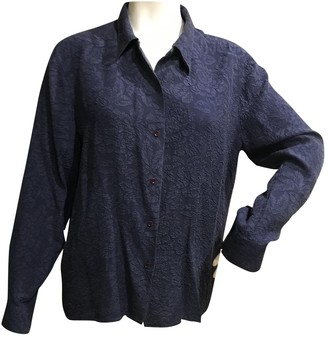 Cacharel Blue Silk Top for Women Vintage