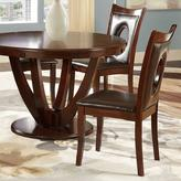 Holmes HomeSullivan Wood and Faux Leather Dining Chair in Rich Cherry (Set of 2)