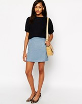 Warehouse Drawn Finish Pelmut Skirt