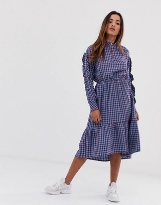 MBYM gingham high neck dress