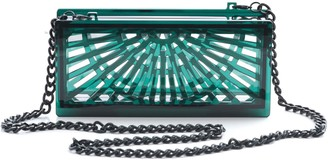 Vitro Atelier Phoebe Clutch In Emerald Green