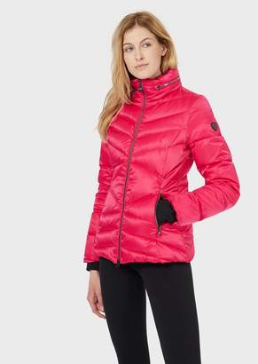 Emporio Armani Ea7 Windproof, Shiny Fabric Down Jacket