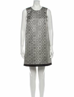 Gucci Printed Mini Dress Black