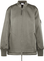 Alexander Wang Oversized Satin Bomber Jacket - Gray green