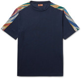 Missoni Mare Space-dyed Cotton T-shirt - Navy