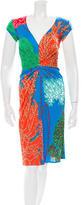 Issa Knee-Length Printed Dress