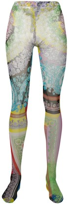 Versace baroque print tights