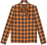 Gucci Cambridge shirt with scarf