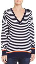 Equipment Lucinda Striped V-Neck Sweater