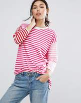 Asos T-Shirt In Oversized Cutabout Stripe