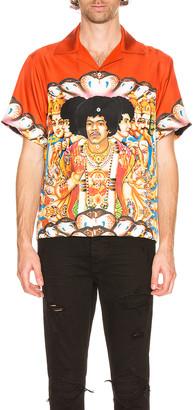 Amiri Jimi Hendrix Short Sleeve Shirt in Coral | FWRD