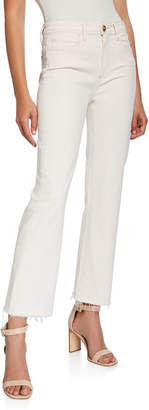 Paige Atley Ankle Flare Jeans with Raw Hem